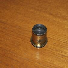 BRASS LENS for VINTAGE CAMERA compact early approx. 7-8 inch focal length