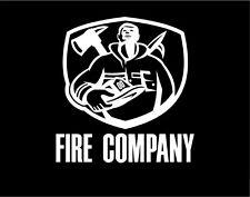 Firefighter Sticker Window Vinyl Decal with Axe