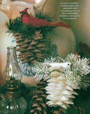PRETTY PINECONES CHRISTMAS ORNAMENT PLASTIC CANVAS PATTERN INSTRUCTIONS