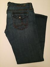 Bu From Malibu women's Jeans size 9 boot cut denim juniors button pockets A-4