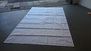 Sonderposten 1B Sonnensegel weiss vergilbt 320 x 200cm kleinen Schnitt im Tuch