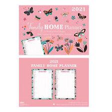 2021 Family Home Planner Calendar 5 Columns Size A3 - Butterflies