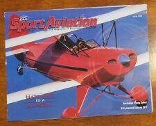 Sport Aviation Magazine June 2002 EAA v-8 Lancair IV-P plane homebuilders