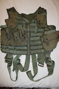 CWU-33/P22P-18 Survival Vest US Army Navy Helicopter MOLLE/PALS 6 Pouches STABO