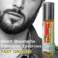 BEARD GROWTH SUPPORT SERUM OIL Grow Facial Hair, Sideburns, Moustaches, Eyebrows