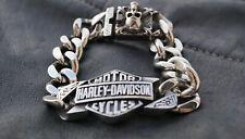 Harley Davidson Edelstahl Armband Bracelet 21.5cm Biker Skull Schmuck NEU