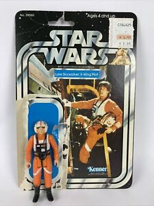 Star Wars Luke Skywalker X Wing Pilot Figure With Card Vintage 1978