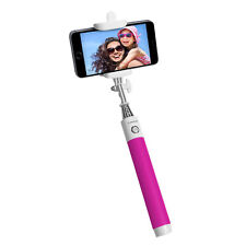 PUREGEAR Wireless Selfie Stick BLUETOOTH Rechargeable for Any Mobile Device Pink
