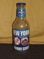 "VINTAGE 1997 BASEBALL NY YANKEES & METS SUBWAY SERIES 20""  PLASTIC BOTTLE BANK"