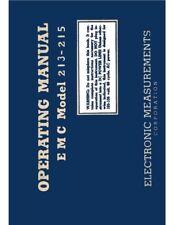 Transistor Amp Tube Tester Manual Charts Pick Emc 213 215 Or Lafayette 38 0112