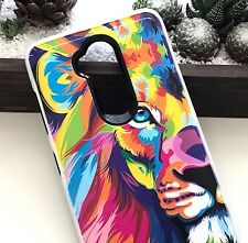 ZTE Max XL N9560 / Blade Max 3 Z986 -Hybrid Armor Phone Case Colorful Retro Lion