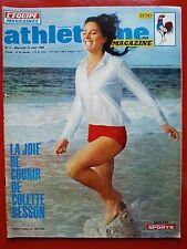 1969 ATHLETISME magazine n°4 COLETTE BESSON MIMOUN PUJAZON BARNAY ZSIVOTZKY