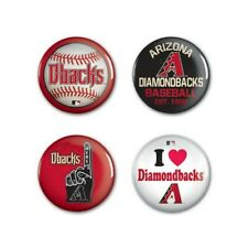 MLB ARIZONA DIAMONDBACKS BUTTONS 4-PACK NEW