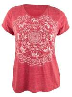 Style & Co. Women's Graphic T-Shirt (L, Elephant Medallion)