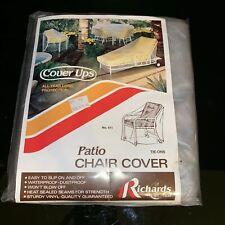RareVintage 1978 RICHARDS Cover Ups Vinyl Patio Chair Plastic Cover NOS #611