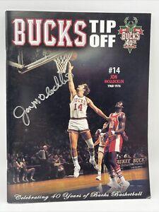 Milwaukee Bucks Tip Off 1968-2008 #14 Jon McGlocklin Autograph Magazine Program