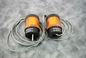 Lot of 2 Werma 640 800 00 LED Yellow Tower Lights with 90-Day Warranty