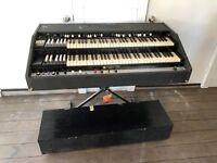 Bill Beer Hammond Organ Keyboard Chopped Chop Black Flight Case B3 equal AS IS