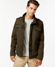 Levis Sherpa Lined Trucker Zipped Front Jacket Olive Mens Size Large New