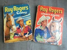 ROY ROGERS COWBOY ANNUALS, VINTAGE COLLECTABLE. 1955 and 1957