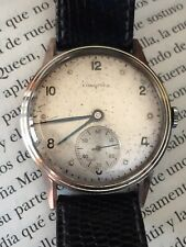 Longines Vintage Watch. Serviced. 1946 With Hirsch Watch Band Lizard Leather
