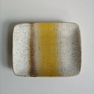Ceramic Trinket Dish Mustard Yellow