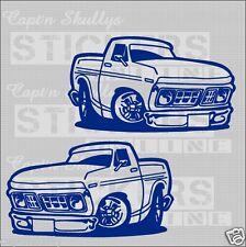 TRUCK F100 DECALS X2 190x110mm Capt'n Skullys Stickers Online MPN 1279 M/purpose