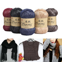 1 Ball Hand Knitting Yarn Crochet Needlework Thick Wool For Scarf Sweater Craft