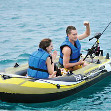 Inflatable Boat Kayak Fishing Yacht Fishing Boats Set with Oars & Air Pump Set