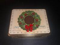 1990 OREO Cookie Christmas Tin - Vintage 1912-1990 - Used / Empty