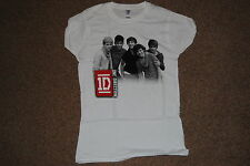 ONE DIRECTION B&W PHOTO LADIES SKINNY T SHIRT SMALL NEW OFFICIAL 1D HARRY STYLES