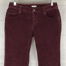 Liz Claiborne Petite Womens 8P Stretch Purple Mid Rise Straight Corduroy Jeans