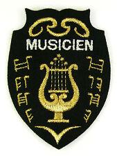 Ecusson brodé militaire ♦ (badge embroidered) ♦ MUSICIEN ORCHESTRE MILITAIRE