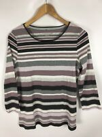 GERRY WEBER Shirt, mehrfarbig gestreift, Größe 40