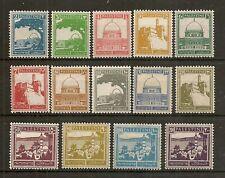 PALESTINE 1927-45 PICTORIAL SET SG90/103 MNH