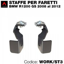 Kit 2 staffe specifiche per BMW R1200 GS 2008>12 per montaggio dei faretti a led