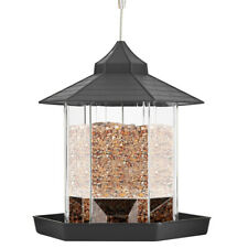 Bird Feeder Outdoor Plastic Hanging Bird Food Container Garden Decoration Pet