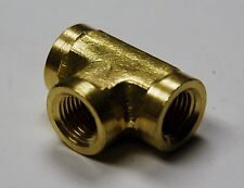 Brass Fittings: Brass Tee Forged Female Pipe Size 1/2, QTY 50