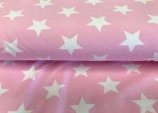 Stenzo Jersey Enfants Tissu étoiles rose blanc Organic Coton biojersey