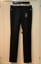 SAINT LAURENT Pants Skinny w/Zipped Pockets in Grey Wool, 50