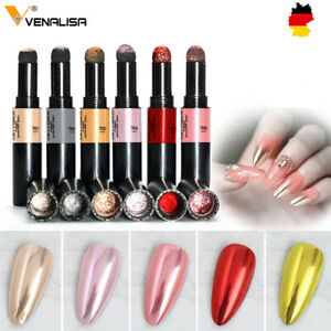 Crome Puder Nagel Puder Stift Chrome Glitter Mirror Nail Holographic
