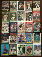 Lot of 200 Different Baseball Cards of 50 Recent Hall of Fame Inductees