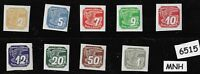 MNH stamp set / 1939 Newspaper set / Third Reich Germany Occupation during WWII