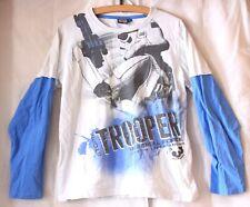 Star Wars Stormtrooper Pullover langärmliges Jungen Kinder Sweatshirt 146