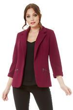 c5df9d6a244c0 Roman Originals Women's Zip Pocket Blazer - Ladies Wedding Occasions Jackets