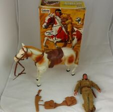 VINTAGE GABRIEL LONE RANGER TONTO AND SCOUT FIGURES WITH ORIGINAL BOX!
