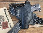 Vintage Alfonso's Black Basketweave Leather OWB Holster For Walther PP PPK LEFT