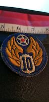 WW2 USAF Tenth Air Force Burma Command SALE $4.50--- SEE OUR MASSIVE PATCH SALE