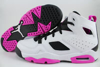 NIKE AIR JORDAN FLIGHT CLUB 91 WHITE/FUCHSIA PINK PURPLE WOMEN GIRLS RETRO YOUTH