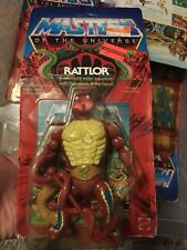 Masters del universo RATTLOR Moc Amos del universo Vintage He-man Rattler Raro Amos del universo cardado